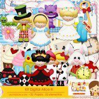Kit digital Alice no pais das maravilhas 3