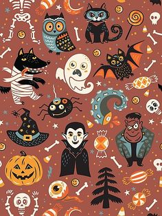 Find Cute Cartoon Halloween Seamless Pattern Red stock images in HD and millions of other royalty-free stock photos, illustrations and vectors in the Shutterstock collection. Halloween Vintage, Halloween School Treats, Halloween Artwork, Halloween Rocks, Halloween Inspo, Halloween Cartoons, Halloween Poster, Halloween Patterns, Halloween Wallpaper