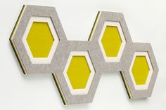 Felt decorative acoustical panels COMB by HEY-SIGN design Sonja Zilz