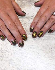 61 Best Ideas For Gel Manicure Green Art Designs Faded French Manicure, Glitter French Manicure, French Manicure Designs, Nail Art Designs, Manicure Quotes, Manicure Colors, Manicure And Pedicure, Green Nail Art, Green Art