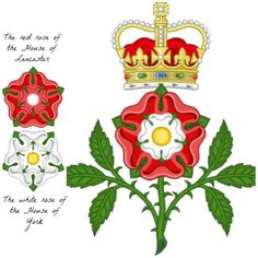 The Tudor Rose ~ On 22 August 1485 Henry Tudor ended the Wars of the Roses between the House of Lancaster and the House of York by taking the crown of England from Richard III in battle.