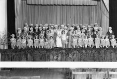 [Caldwell School Students on Stage] :: Textiles, Teachers, and Troops…