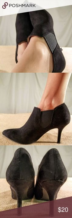New Ann Marino Black Suede Anke Bootie Heels These shoes are Brand New/Never Worn and are in PERFECT CONDITION The heel height of this shoe is 3 inches tall. Ann Marino Shoes Ankle Boots & Booties