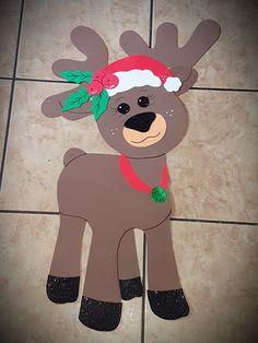Hena natalina em eva Hena, Reindeer, Christmas Crafts, Inspired, Winter, Christmas Activities, Christmas Decor, Shark Party, Holiday Ornaments
