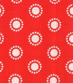 Quilter's Showcase™ Cotton Fabric-Circles Red/White