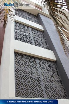 Cement Board/ Sheraboard/ Bisonboard Jali Panels - best alternative to PVC or MDF Balcony Grill Design, Balcony Railing Design, House Ceiling Design, House Front Design, Exterior Wall Design, Facade Design, Cnc Cutting Design, Laser Cutting, Decorative Screen Panels