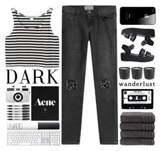 """""""Another Monochrome Set \\ 8,000 followers!!"""" by fashionlover2157 ❤ liked on Polyvore featuring Christy, Monki, Holga, Sharpie, Mason's, Current/Elliott, NARS Cosmetics, Nude, monochrome and fashionset"""