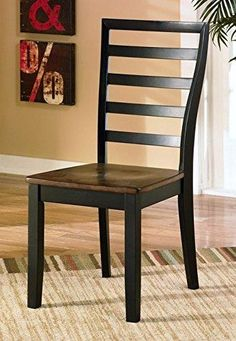 Ashley Furniture Signature Design Alonzo Dining Room Side Chair Two-Tone Brown Set of 2