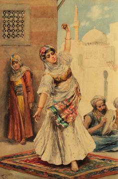 Ballerina orientale nell'harem