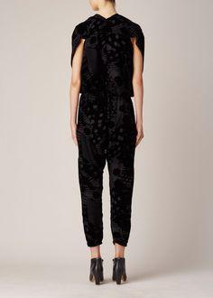 Zero + Maria Cornejo Velvet Lena Jumpsuit (Black)