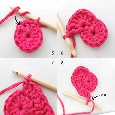 Crochet Heart Shaped Storage Baskets | My Poppet Makes