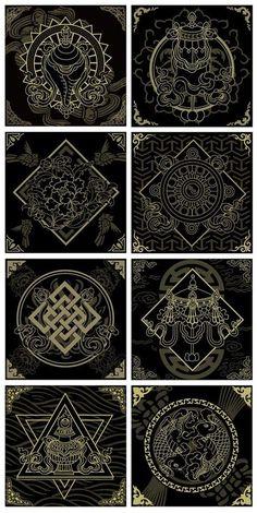 35 Ideas Tattoo Designs Mandala Symbols For 2019 Mandala Symbols, Sacred Geometry Symbols, Sacred Geometry Tattoo, Zentangle, Typographie Logo, Art Asiatique, Magic Circle, Buddhist Art, Tibetan Art