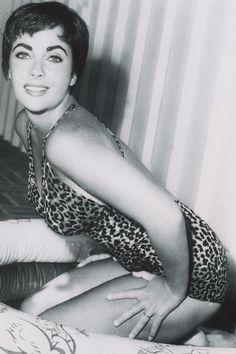 Liz Taylor in leopard/cheetah print