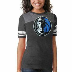 adidas Dallas Mavericks Womens Original Big Logo Tri-Blend T-Shirt - Dark Ash