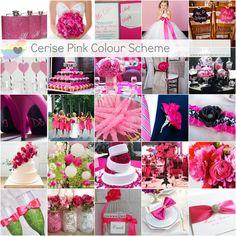 Cerise Pink Colour Scheme http://weddingscene.co.za/colour-schemes/