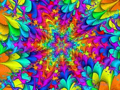 Splash of Color by Chazagirl on deviantART Fractal Images, Fractal Art, Fractals, World Of Color, Color Of Life, What Are Colours, Splatter Art, Psychedelic Pattern, Rainbow Connection