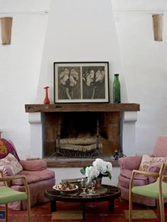 Fireplaces on pinterest spanish spanish style and for Spanish style fireplace