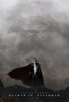 Batman Versus Superman - I am so nervous about Affleck. I want him to be amazing, but I can only wait to see.