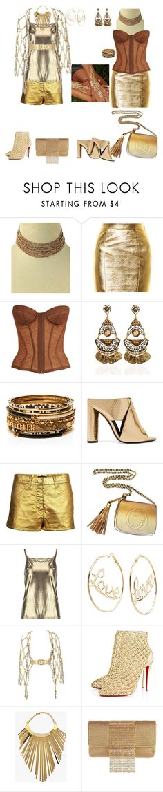 """""""2 CHIC days at fashion show"""" by svetlozeme on Polyvore featuring Eye Candy, Yves Saint Laurent, Chanel, Amrita Singh, Tom Ford, Gucci, Charlotte Russe, Zana Bayne, Christian Louboutin and Balmain"""
