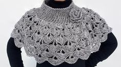 This Capelet Poncho, is hand crocheted in a super soft acrylic yarn. This Capelet has a beautiful flower brooch and you can use it with or without