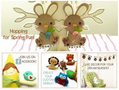 Custom Musical Baby Mobiles, Nursery Decor, Party Favor and Gift Giving Holidays by Gifts Define