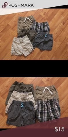 5 pair of 18 month shorts! Perfect condition Summer is HOT!! So is this deal! 5 pairs of 18 months boy shorts! All worn maybe once! My son just grew too quick 🤣 hurry before they are gone! And see other posts of 18 months shorts Bottoms Shorts