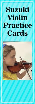 New and SUPER FUN Suzuki violin and Suzuki cello practice cards. Great ideas and direct product with which your child or Suzuki student can practice at home and do lots of Suzuki violin review. Not instrument specific so Suzuki cello, Suzuki piano students can also use!