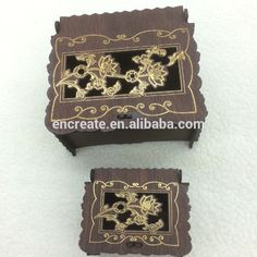 lasercut oval wooden box -