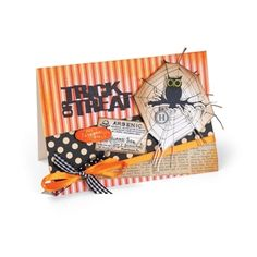 Card creations like this nicely complement the cuter side of Halloween. Whether you're making 1 or the results are always frighteningly good! Halloween Tags, Fall Halloween, Halloween Crafts, Kids Birthday Cards, How To Make Light, Craft Materials, Tim Holtz, Craft Activities, Arts And Crafts