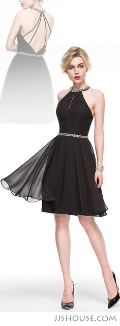 Classic little black dress with chic back style. Put on this dress and you will be a charming beauty on your party night. Trendy Dresses, Nice Dresses, Casual Dresses, Short Dresses, Fashion Dresses, Prom Dresses, Best Party Dresses, Dress Party, Black Cocktail Dress