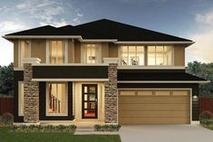 Plan Gallery - Home Builder Seattle, Bellevue, WA New Homes - MainVue Homes House Paint Exterior, Dream House Exterior, Dream House Plans, Modern House Plans, 2 Storey House Design, Bungalow House Design, Modern House Design, Luxury Homes Dream Houses, Modern Architecture House
