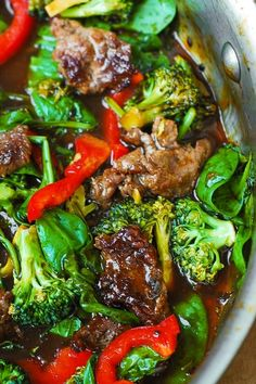 This Asian Beef and Broccoli Salad is a great way to incorporate LOTS of veggies in one delicious meal: broccoli, spinach, red bell pepper.