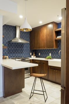 Project Spotlight Vibing In Blue Velvet Fireclay Tile