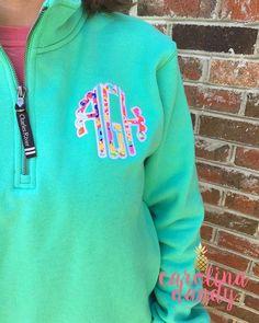 Monogrammed Lilly Quarter Zip Pullover