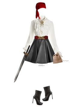 """pirate costume"" by cloudosaurus ❤ liked on Polyvore featuring Vivienne Westwood, Trifari, MSGM and Lanvin"