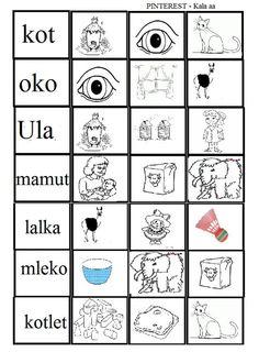 Polish Language, Maila, Learn To Read, Pre School, Kids Learning, Kindergarten, Letters, Teaching, Education