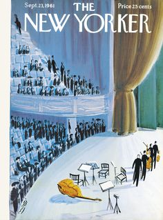 The New Yorker - Saturday, September 23, 1961 - Issue # 1910 - Vol. 37 - N° 32 - Cover by : Mario Micossi