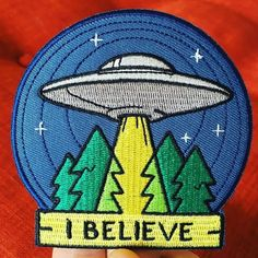 'I believe' #patch from @lastcraftdesigns.  #patchcommand  Link to store in their bio. Give them a #follow while you're there.  #ufo #aliens by patchcommand