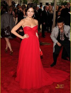Free Shipping Red Celebrity Dresses Cheap Sweetheart Camilla Belle JasonWu Chiffon One Shoulder Red Carpet Dresses 2015