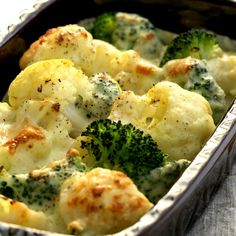This cauliflower broccoli gratin recipe is cheesy and full of zest.. Cauliflower Broccoli Gratin Recipe from Grandmothers Kitchen.