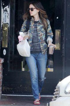 Rachel Bilson wearing Karen Walker Deep Freeze Sunglasses in Crazy  Tortoise 2cb5022e6655b