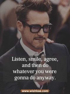 New Quotes Inspirational Funny Motivation 69 Ideas Iron Man Quotes, Men Quotes, Wisdom Quotes, Life Quotes, Funny Motivational Quotes, Inspirational Quotes, Robert Downey, Breaking Benjamin, Papa Roach
