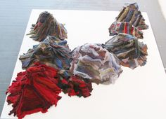 Recycled wool mountains
