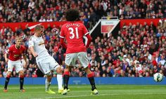 Manchester United 1-2 Swansea City: Sigurdsson ruins Van Gaal's debut by scoring the winner in the opening game of the 2014/15 season.
