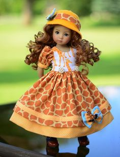 """""""Giraffe!"""" Dress, Outfit, Clothes for 13"""" Dianna Effner Little Darling & Avery #Unbranded"""