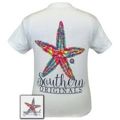 Details:Check out our pattern starfish! This classic fit pre-shrunk jersey knit tee is 6-ounce 100% cotton. They're perfect for the weekends, your vacation, and gifts.