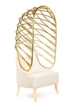 Now, at Vanity Mirror Co.: Becomes Me Armchair - Limited Edition. Only 12 made. Designed by Toni Grilo for MUNNA Design. Exquisite!