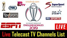 Get ICC Cricket World Cup 2019 Live TV Channels Broadcasting List. ICC has announced that CWC 2019 will be starting from 30 May in England & Wales. Live Cricket Online, Live Cricket Tv, Sports Live Cricket, Icc Cricket, Cricket World Cup, Tv Channel List, Watch Live Cricket Streaming, World Cup Live, World Cup Match