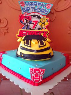 This Gorgeous Transformers Bumblebee Birthday Cake Was Created For A Little Boys 7th Party