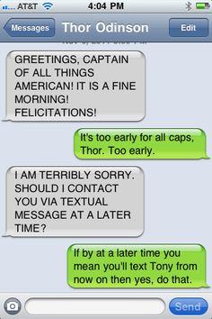 Texts from Thor